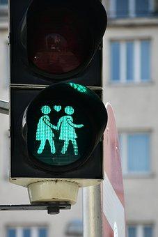 Girl, Love, Lesbian, Traffic Lights, Vienna