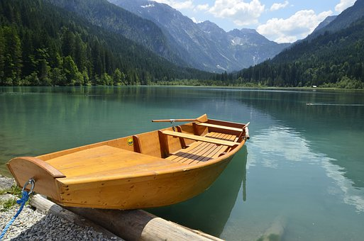 Boat, Rowing Boat, Lake, Water