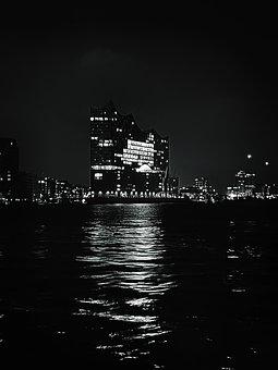 Hamburg, River, Germany, City, Water, Elbe