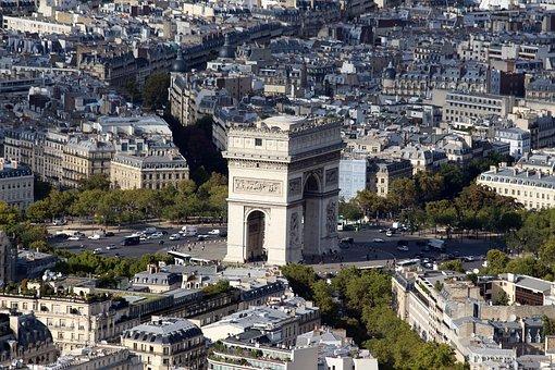Paris, Eiffel Tower, Air, City Of Light, Architecture