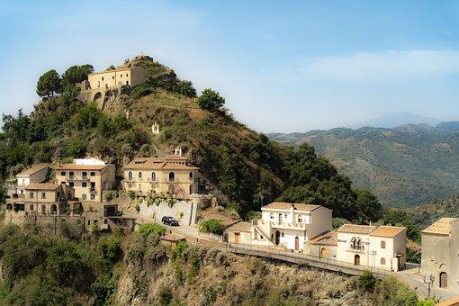 Italia, Savoca, Architecture, City, Mountains, Old