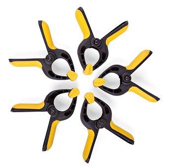White, Tool, Plastic, Clamp, Holder, Attach, Clip