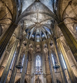 Cathedral Barcelona, Inside, Architecture, Catalonia