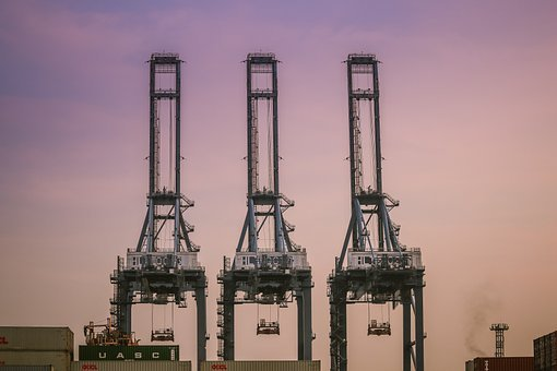 Harbor, Crane, Port, The Industry, Shipping