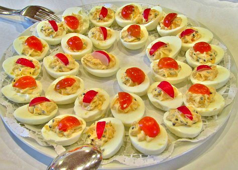 Egg, Stuffed Eggs, Tomato, Paprika, Decoration