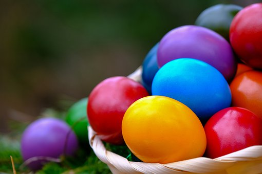 Easter Eggs, Painted, Colorful, Egg