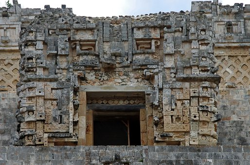Mexico, Uxmal, Temple, Entry, Maya, City