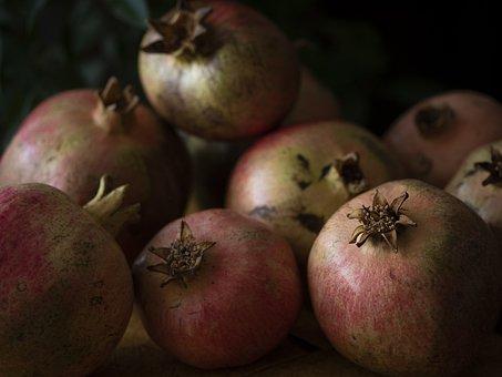 Grenades, Fruit, Healthy, Red, Food