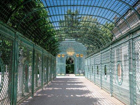 Pavilion, Iron Mesh, Grid, Potsdam, Baroque