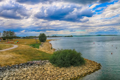 Landscape, Cloudy, Lake, Trail, Nature