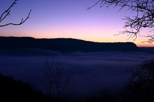 Sunrise, Twilight, Landscape, Nature