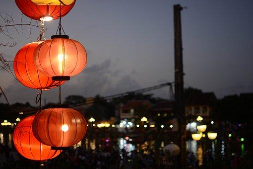 Danang, Hoian, Night, Vietnam, Lighting, In The Dark