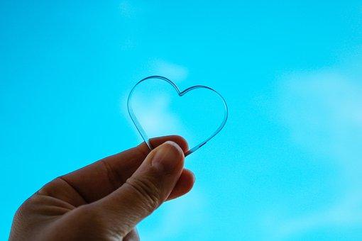 Sky, Blue, Clear, Heart, Day, Light, Sun, Spring, Love