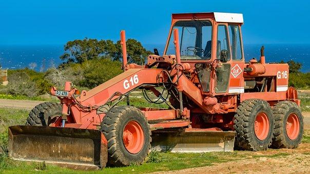 Machine, Heavy, Wheel, Grader, Heavy Machine, Vehicle