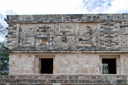 Mexico, Uxmal, Temple, Facades, Maya