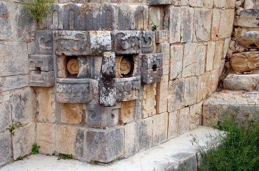 Mexico, Uxmal, Temple, Divinity, Rain, Chaac, Maya