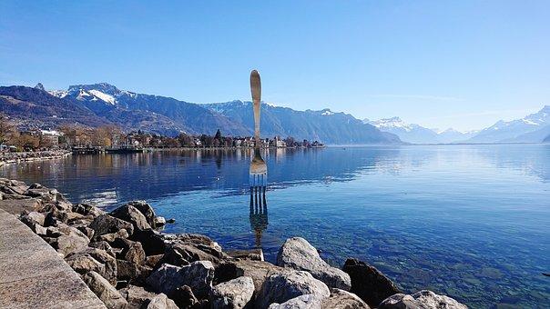 Fork, Vevey, Lake, Geneva, Rocher De Naye, Mountain