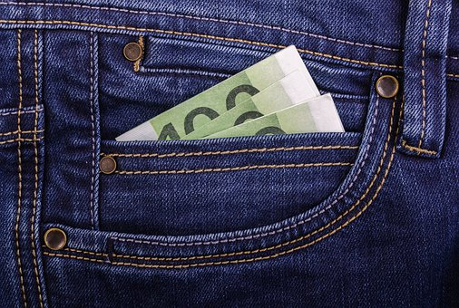 Finances, Paper, Jeans, Currency, Pocket, Business