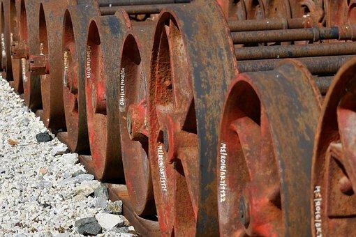 Train, Wheels, Rusty, Rails, Railway, Rust, Abandoned