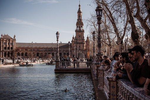 Sevilla, Plaza De Espana, Square, špani, Spain