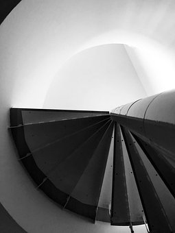Stairs, Staircase, Black And White, Architecture