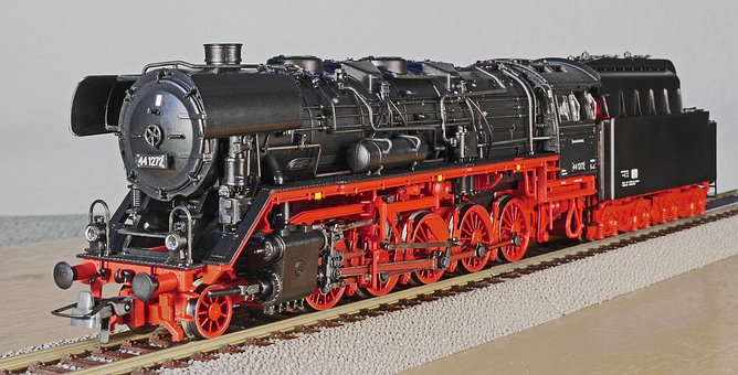 Steam Locomotive, Model, Heavy Goods Train Locomotive
