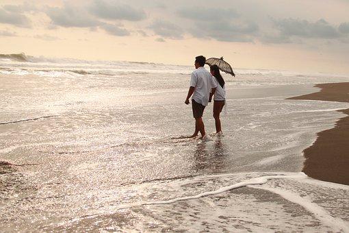 Girl, Man, Beach, Sunrise, Couple, Love, People, Woman