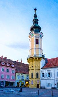 Bad Radkersburg, Faith, Steeple, Town Hall, Europe
