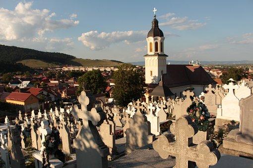 Cemetery, Church, Village, Romania, Transylvania