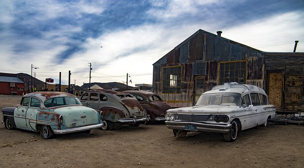 Ghost Town, Automobiles, Cars, Vintage, America, Travel
