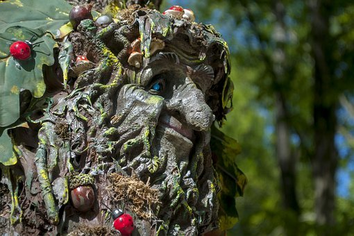 Wood, Troll, Old, Summer, Natural, Trees, Sculpture