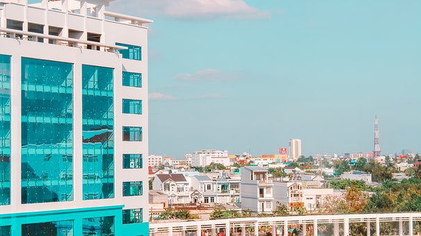 City, Cantho, Country, Asia, Vietnam, Architecture