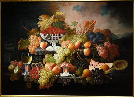 Abundance Of Fruit, Severin Roesen, Oil, Canvas