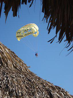Parachute, Vacation, Adventure, Travel, Sport, Sky