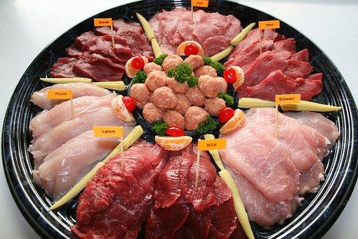 Meat, Meat Plate, Food, Appetizing, Eat, Gourmet