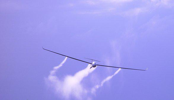 Glider, Air Sports, Aircraft, Approach, Flugshow, Fly