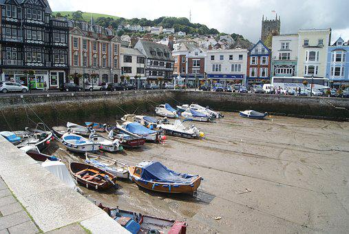 Boats, Harbour, Sea, Water, Tourism, England, Dartmouth