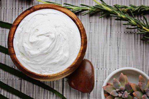 Butter Cream, Bowl, Rock, Still Life