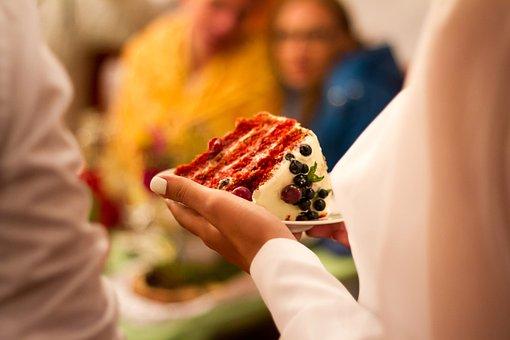 Cake, Red Velvet, Wedding, A Piece Of
