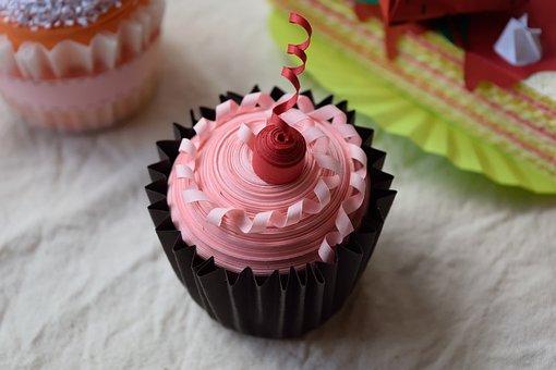 Paper, Diy, Decoration, Cake, Dessert, Cupcake