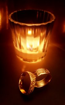 Wedding, Rings, Fire, Candle