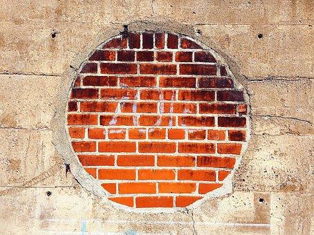 Circle, Brick, Concrete, Architecture