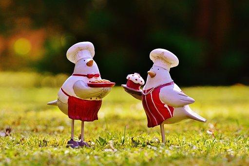 Cooking, Cook, Bake, Birds, Meadow, Sun, Easter, Funny