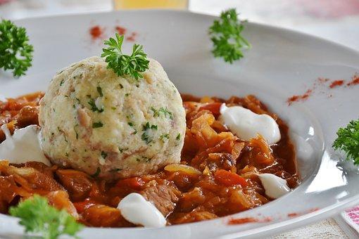 Goulash, Dumpling, Szeged Goulasch, Meat, Herb
