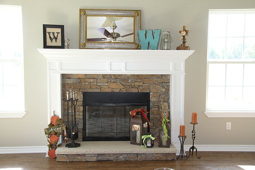 Fireplace, Fire, Mantle, Hearth