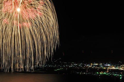 Three Shakus Ball, Fireworks, Kagoshima Prefecture