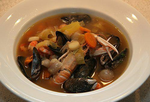 French Bouillabaisse Fish Soup, French, Fish Soup