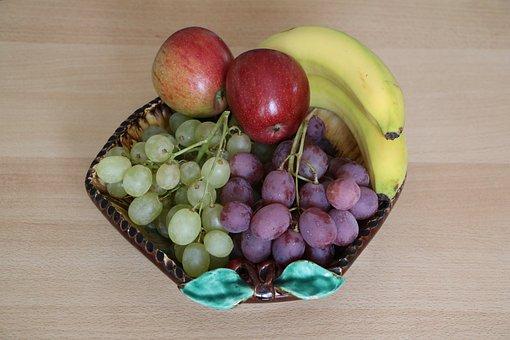 Fruit Bowl, Fruit Basket, Decoration, Food, Fruit