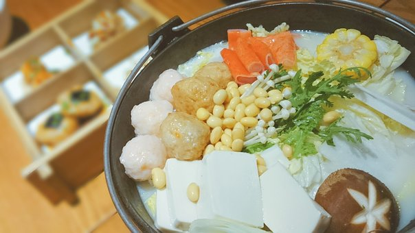 Gourmet, Food, Delicious, Chafing Dish, Tofu