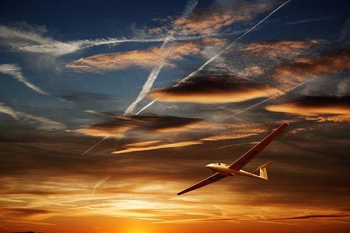 Glider, Glide, Landing, Thermals, Updraft, Aerodynamics